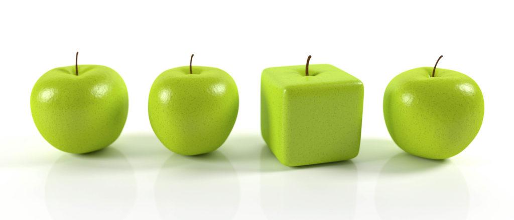 Nel mercato ci sono molti prodotti uguali
