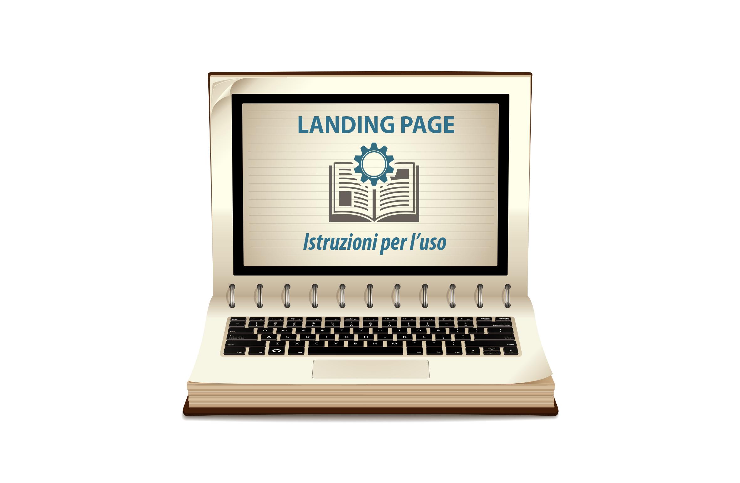 Landing page istruzioni per l'uso