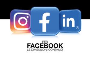 profilo di facebook - le misure